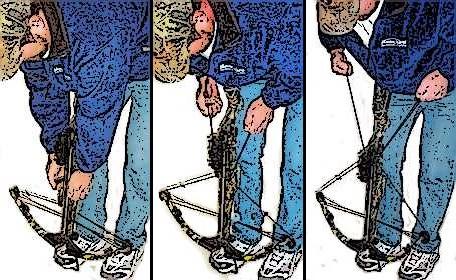 Seilspannen einer Armbrust